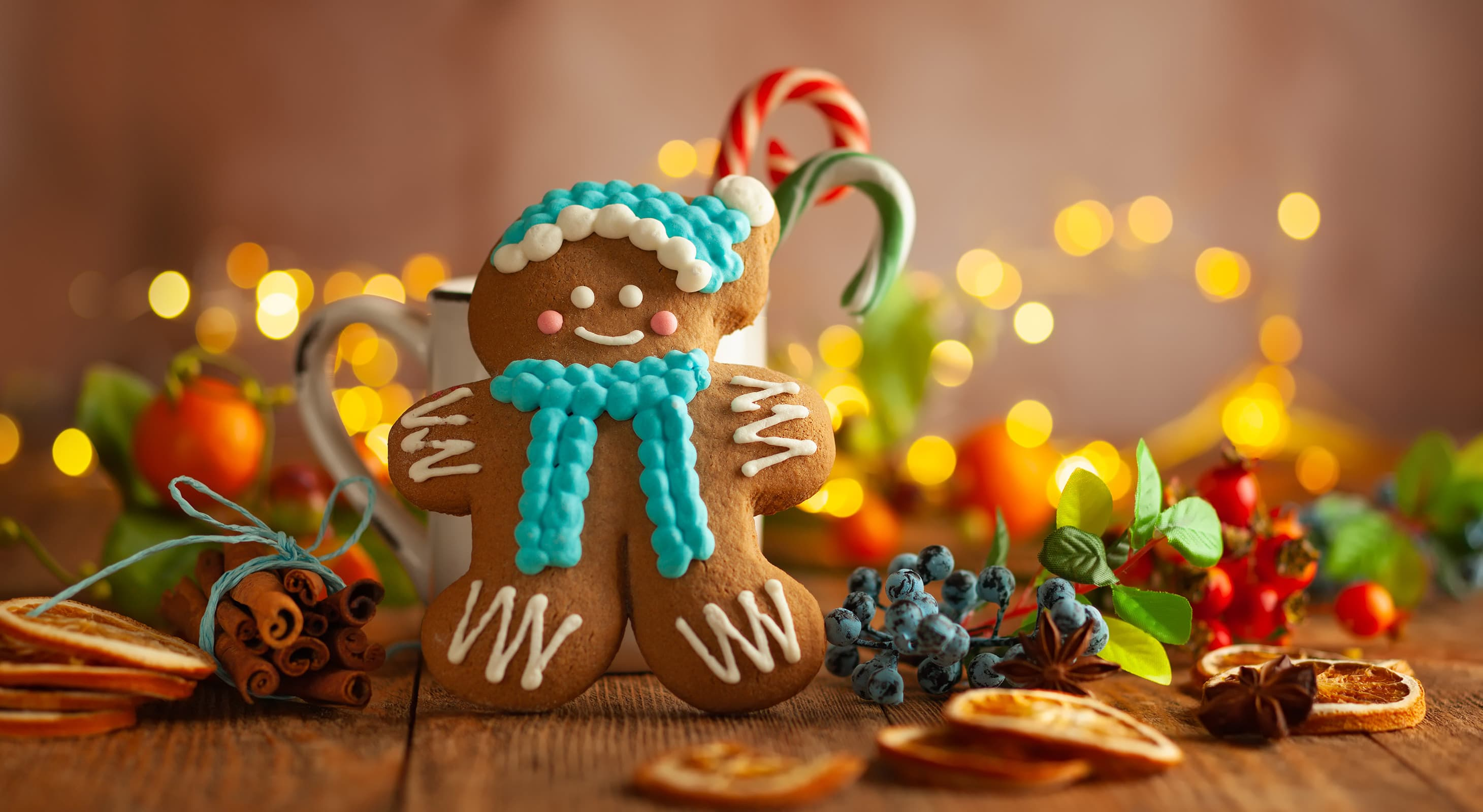 gingerbread and Christmas decorations