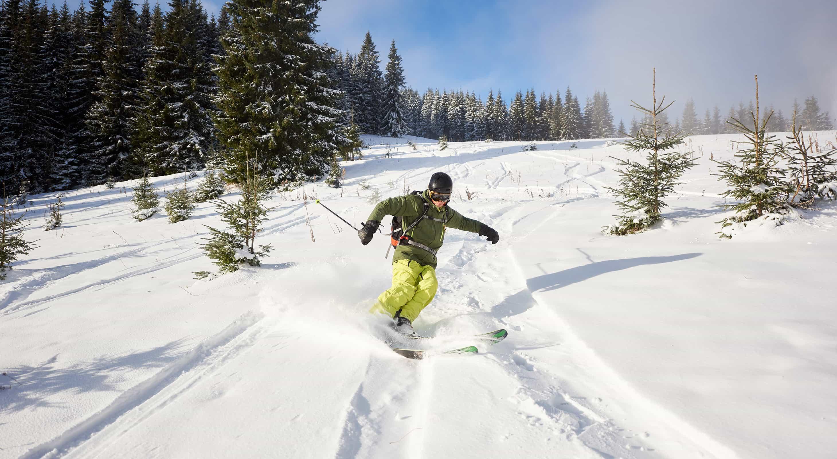 Skiing at Camden Snow Bowl