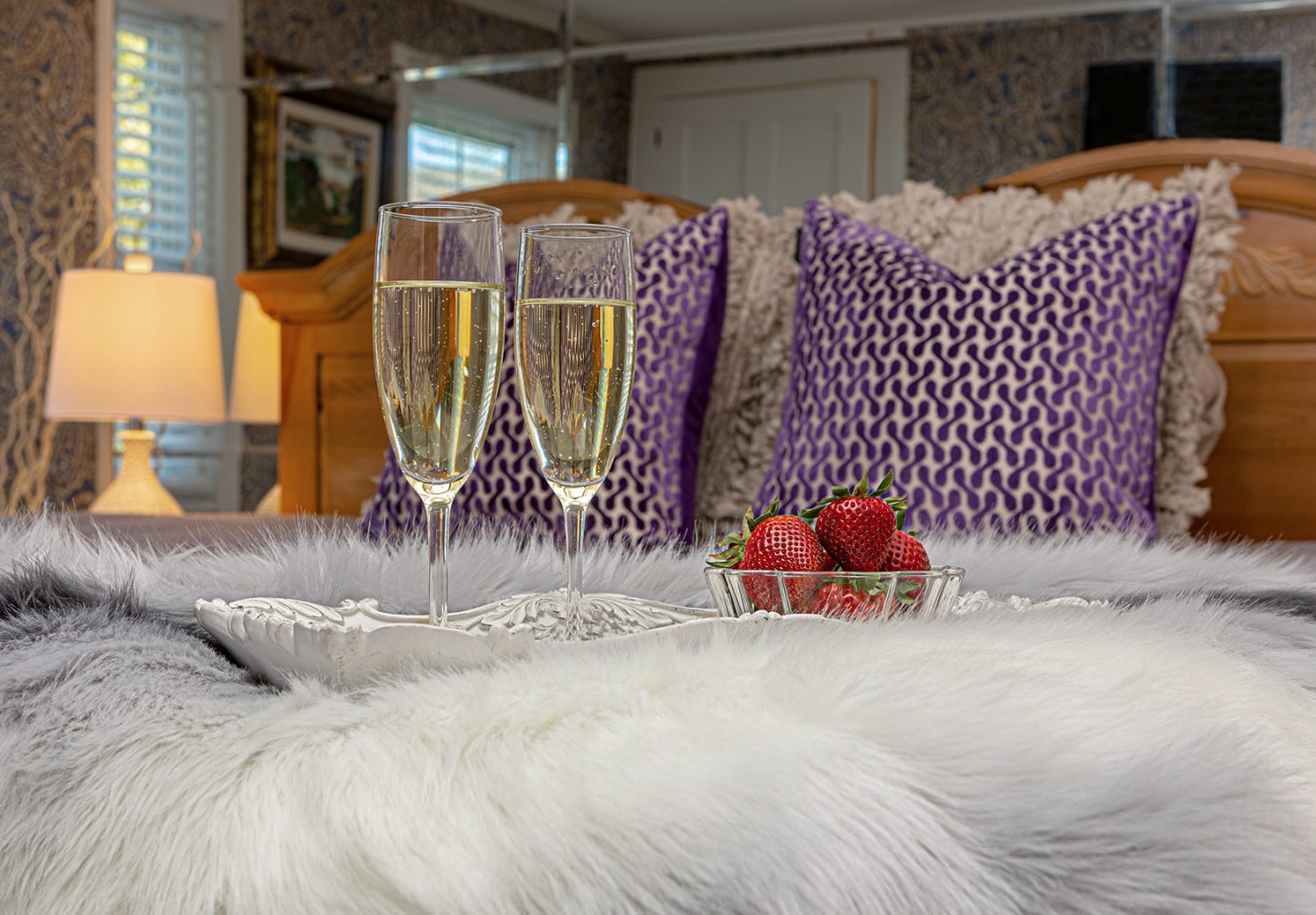 Champagne and Strawberries in Lavender Suite