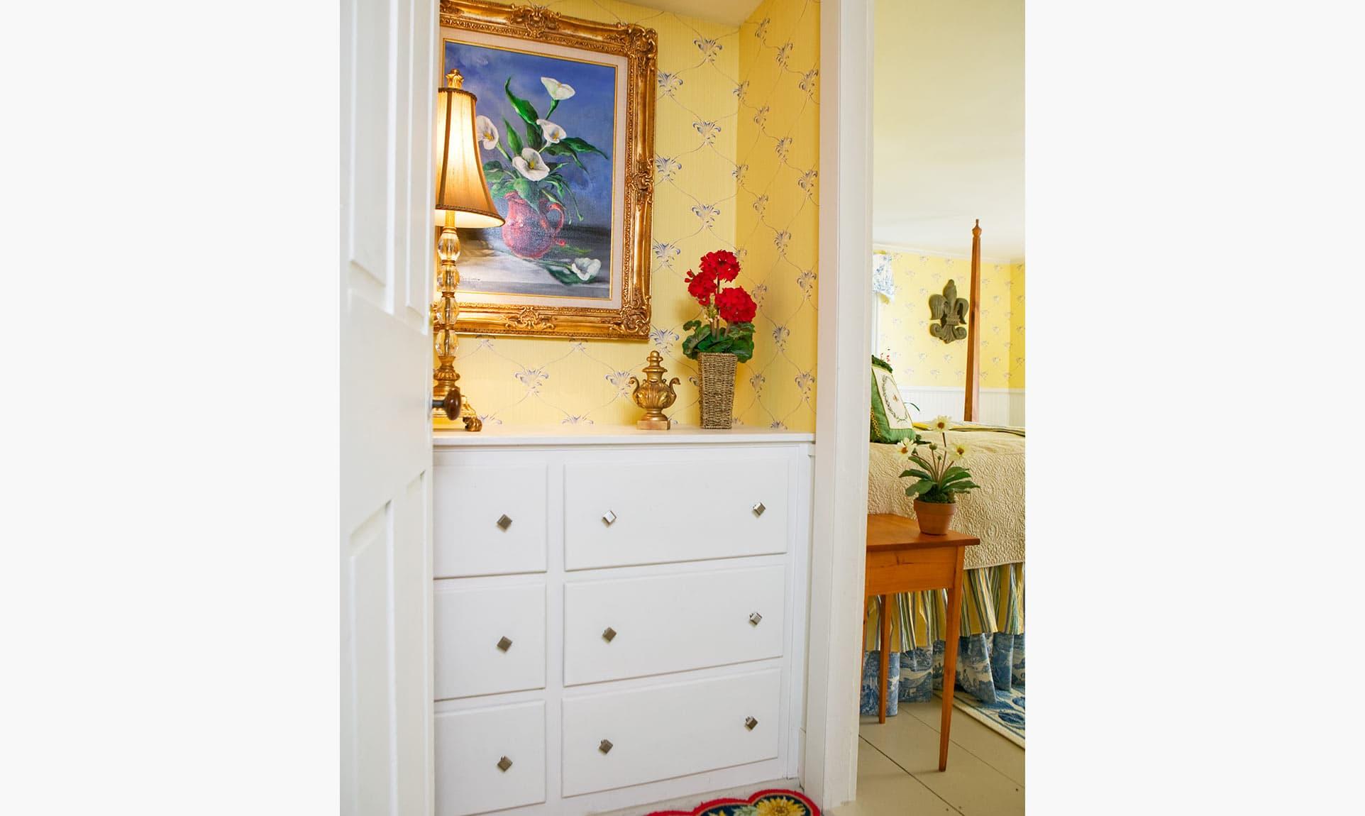 Entry into the Lemon Verbena Room at our Coastal Maine B&B