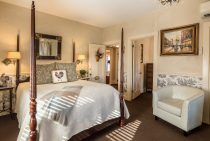 Bed and chair in Mansard Room