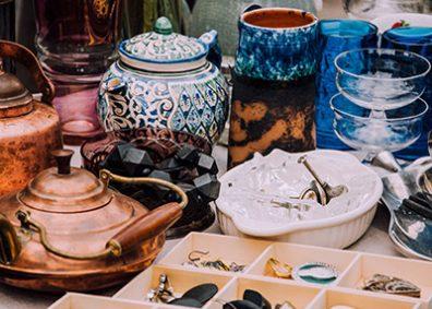 antiques at a market