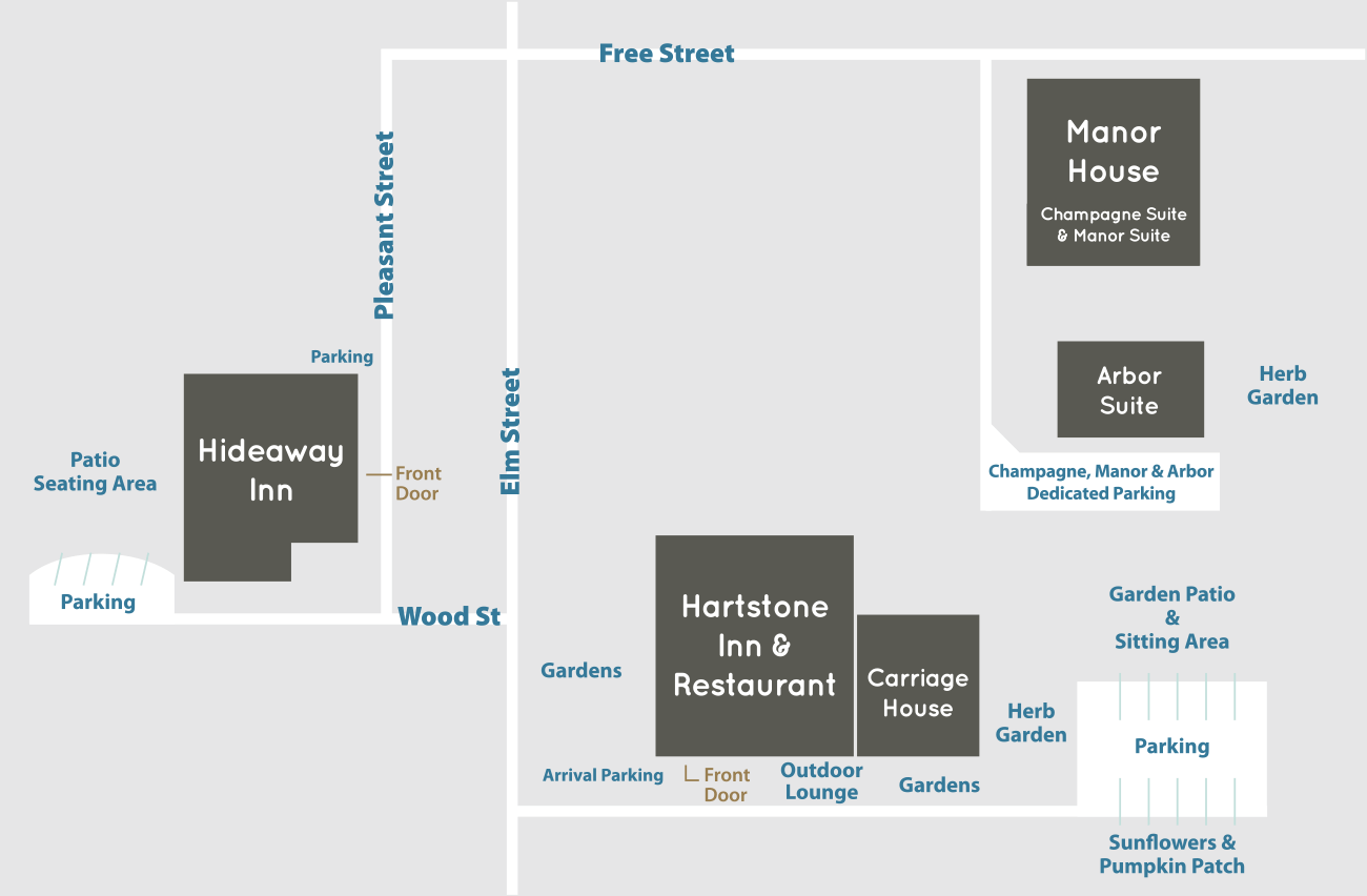 Hartstone Property Map with layout of buildings