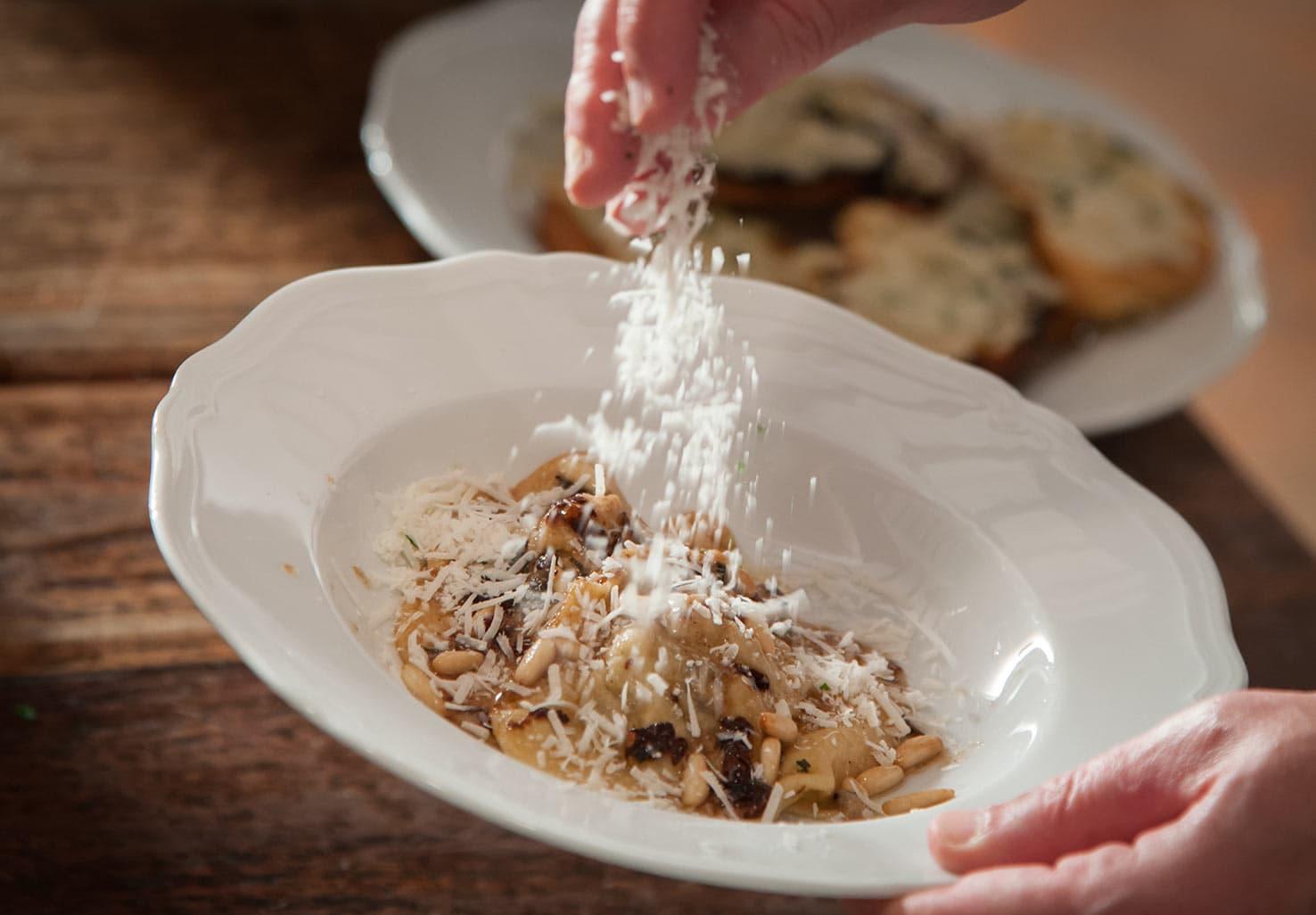 Pasta Dish with fresh cheese
